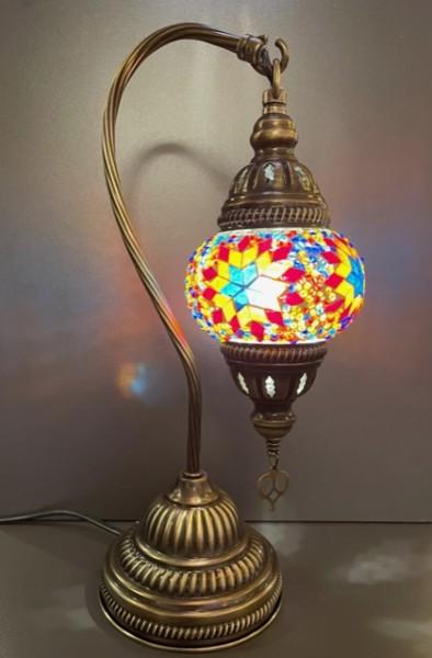 Orientalische Glasmosaiklampe hängend bunt