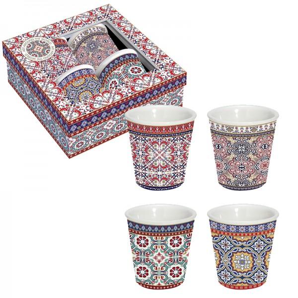 Orientalische Espresso-Tassen 4er Set Morocco