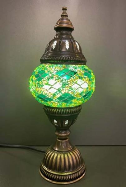Orientalische Glasmosaiklampe stehend grün