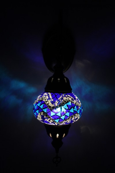 Orientalische Glasmosaik Wandlampe