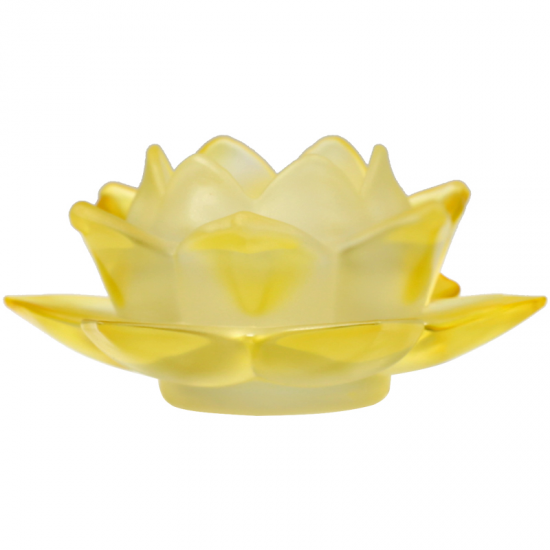 Teelichthalter Lotusblume aus Glas