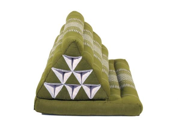 Kapok Thai Dreieckskissen mit 1 Matte 50cm breit