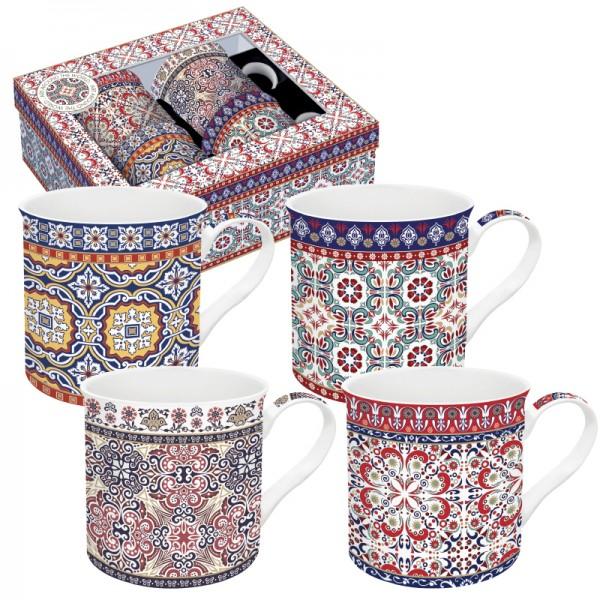 Orientalische Tassen Morocco 4er Set