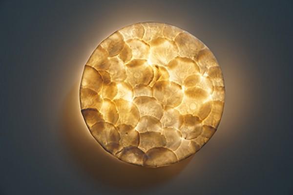 Wandlampe Capiz-Muscheln