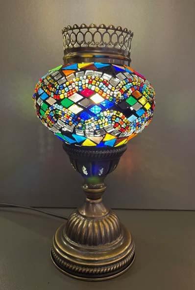Orientalische Glasmosaiklampe stehend bunt
