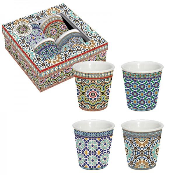 Orientalische Espresso-Tassen 4er Set Arabian