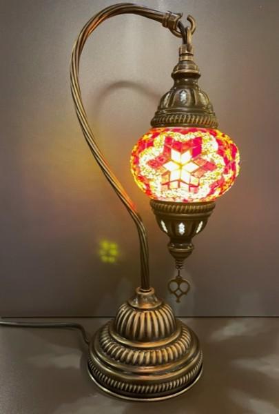 Orientalische Glasmosaiklampe hängend orange-gelb-rot